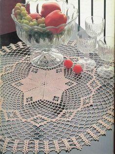 Crochet pink tablecenter.. Free pattern
