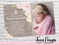CHRISTENING INVITATION GIRL, Baptism Printable Invitation, Naming Day, Girl Christening Invitations, Floral Christening Invitation, Floral