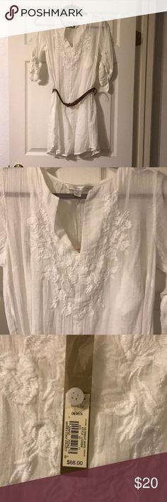 Lauren Conrad White Dress with Belt Pet Free/Smoke Free Home LC Lauren Conrad Dresses