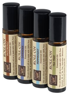 Value 4 Pack Set Essential Oil Roll-Ons 10 ml (Lavender, Patchouli, Peppermint and Tea Tree Essential Oils) => Additional details at the pin image, click it : coconut essential oil