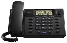 RCA - 25201RE1 Corded Speakerphone - Black