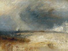Joseph Mallord William Turner, 'Waves Breaking on a Shore' circa 1835
