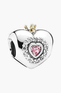 PANDORA 'Princess Heart' Bead Charm | Nordstrom