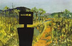 Exhibition ideas for theming, Australian Artists. Ned Kelly painting breaks auction record for Australian art: Sidney Nolans painting of Australian outlaw Ned Kelly, entitled First Class Marksman Australian Painting, Australian Artists, Australian Icons, Sidney Nolan, Ned Kelly, Paintings Famous, England, Aboriginal Art, Art Activities
