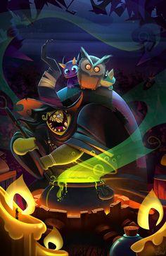 Witch's Brew  by *frogbillgo
