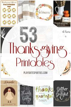 The Best 50+ Free Thanksgiving Printables