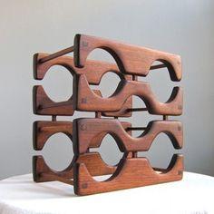 Walnut Wine Rack