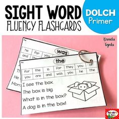 Ever have students who are just not learning their sight words fast enough, despite everything you've tried? How about students who can read sight words on flashcards, but have difficulty reading them in context? These are not your typical flashcards. They are designed to be used by children to practice sight words in context, using picture supports for increased independence and success.