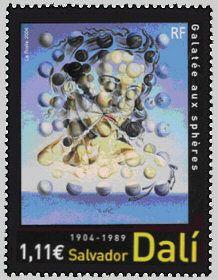 Salvador Dali 194-1989 - Galatée aux sphères - Timbre de 2004