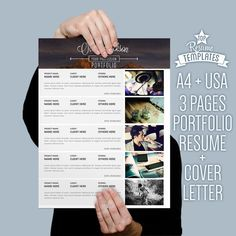 Resume Template Cover Letter 2 Page CV A4 Letter Size By - Resume Size Letter Or A4