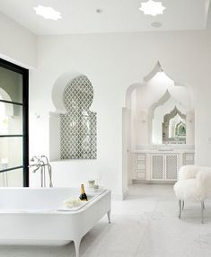 29 Moroccan Style Interior Design Bathroom decor ideas – how to choose the style of the interior design Grey Bathrooms, Small Bathroom, Bathroom Ideas, Master Bathrooms, Bathroom Inspiration, Bathroom Mirrors, Bathroom Toilets, Farmhouse Bathrooms, Master Baths