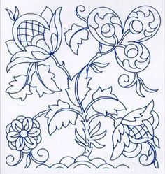 Jacobean Embroidery Pattern: