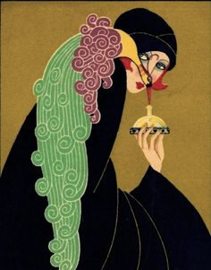 Art Deco Perfume Advertising postcard c.1925