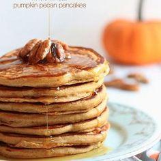 Whole Wheat Pumpkin Pecan Pancakes Recipe