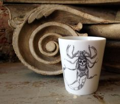 Scorpion cup by French artist Little Madi