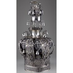 Continental Parcel-Gilt Silver Torah Crown Sold $4,400