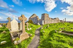 The remains of the priory at Ballinskelligs.