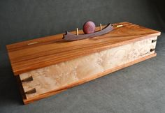 Another beautidul hand made box!! This is so amazing!!  Canary wood box by DvCdModernWood on Etsy, $185.00