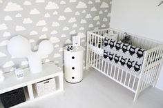 Perfect baby's room. I'd just add hints of light pink or light turquoise depending on wheter it's a girl or a boy. :) Baby´s room-HomeWhiteHome my favorite blogger