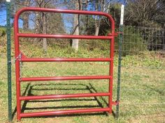 Easily hang a gate from a T-post in 3 minutes. Our patent pending Hinge Pin system is super strong and will not allow the gate to be lifted off. Goat Fence, Pasture Fencing, Garden Fencing, Diy Horse Fencing, Fencing Tools, Horse Fence, Garden Arbor, Horse Barns, Farm Gate
