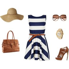Nautical and Classic. I feel like the modern day Jackie O would wear this! Love.