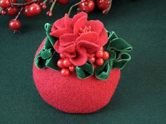 Fascinator red christmas