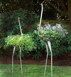 60 Creative DIY Garden Art From Junk Design Ideas - doityourzelf Sloped Garden, Garden Beds, Garden Art, Garden Tools, Garden Design, Organic Gardening, Gardening Tips, Kitchen Gardening, Gardening Zones