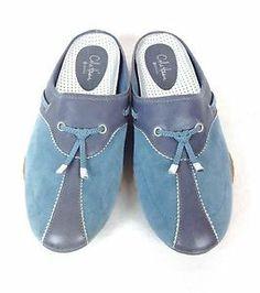 Cole Haan Shoes Suede Blue Nike Air Slip on Wedge Slides Womens Athletic 10 B | eBay