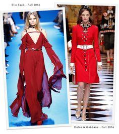 Total Red – Elie Saab: Outono 2016 e Dolce & Gabbana: Outono 2016
