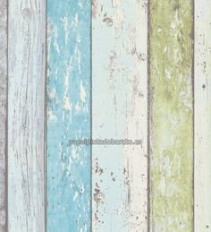 Union Rustic Penwell Wood Stone Brick L x W Wallpaper Roll Color: Colorful Wood Effect Wallpaper, Green Wallpaper, Trendy Wallpaper, Wallpaper Roll, Pattern Wallpaper, Iphone Wallpaper, Turquoise Wallpaper, Estilo Tropical, Beach Cottage Style