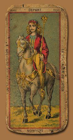 XXIV - Le Chevalier (knight) of Wand. Tarot