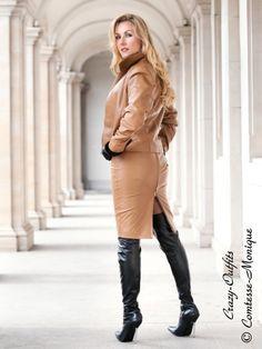 Leather Kingdom Fashion Shop - Lederrock DS-504 - designed by Crazy Outfits