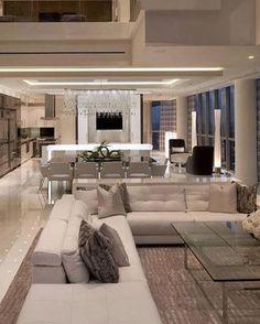 Modern yet luxury interior design for living room