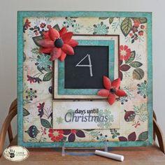 Holiday Countdown Chalkboard! Nice way to match your decor. DIY