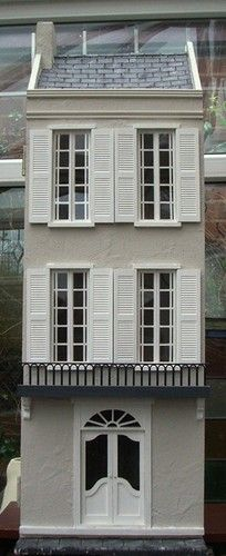 Beautiful Handmade and OOAK 1/12th Scale French Style Town House