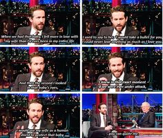 Ryan Reynolds on his wife Blake Lively (and daughter.)