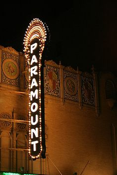 The historic Paramount theatre in Abilene, TX
