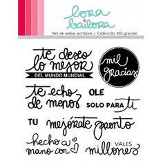 Lora Bailora - Set de sellos mil gracias