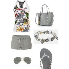 Like this outfit except for shorts tho..i would wear yellow or pink shorts instead. ;)