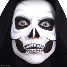 The classic skull, one of my most popular tutorials for Halloween Clown, Cool Halloween Makeup, Halloween Jack, Halloween Costumes For Kids, Halloween Crafts, Halloween 2020, Halloween Stuff, Dead Makeup, Goth Makeup
