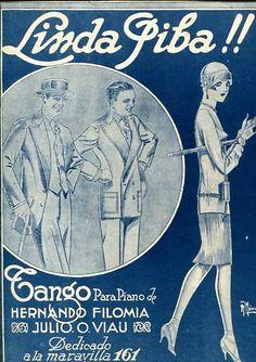 Tango Linda Piba Illustrated Sheet Music Argentina 1925 | eBay