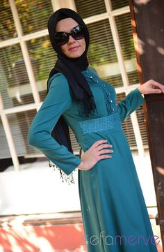 Elbise ZRF Tesettür 5033-04 Yeşil