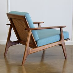 RESTORED PARKER ARMCHAIR | Realm Aqua Fabric, Accent Chairs, Restoration, Armchair, Lounge, House Design, Furniture Ideas, Google Search, Home Decor