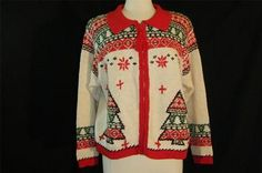 Ugly Tacky Gaudy Christmas Holiday Party Sweater Jumper His Hers Cardigan L | eBay