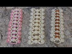 Como fazer: 3x1 - pulseira de perola e arrozinho - Adriana Valério - YouTube