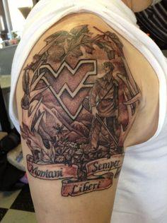 Patty's Art Spot in Morgantown WV. Pretty Tattoos, Beautiful Tattoos, Cool Tattoos, West Virginia Tattoo, Antler Tattoos, Peircings, Tattoo Designs, Tattoo Ideas, I Tattoo