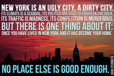 Writers Who Got It Right About New York City..wonderful  quotes on NYC