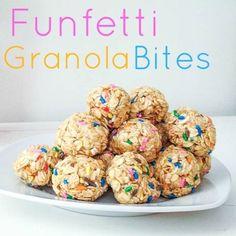 funfetti granola bites. by latoya