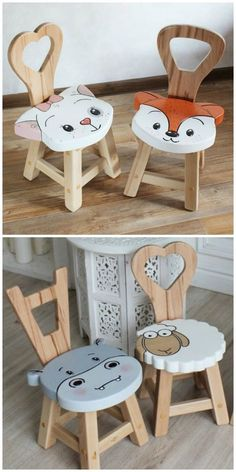 Diy Wooden Projects, Wooden Crafts, Projects For Kids, Outdoor Projects, Wooden Decor, Wooden Diy, Diy Furniture Plans, Kids Furniture, Wooden Furniture