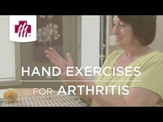 Video: Hand exercises to relieve arthritis pain Osteoarthritis Hands, Rheumatoid Arthritis Symptoms, Hand Exercises For Arthritis, Bone And Joint, Healthy Exercise, Bone Health, Acupressure, Medical Center, Health